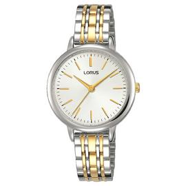 Lorus Ladies Two Stone Stainless Steel Bracelet Watch