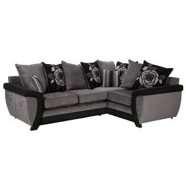Argos Home Illusion Right Corner Fabric Sofa - Black & Grey
