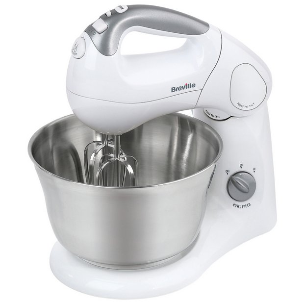 buy breville shm2 twin motor hand and stand mixer white. Black Bedroom Furniture Sets. Home Design Ideas