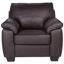 HOME New Logan Leather and Leather Effect Chair - Chocolate