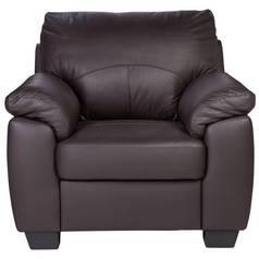 Argos Home Logan Faux Leather Armchair - Chocolate