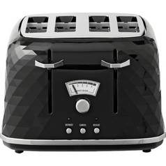De'Longhi CTJ4003 Brillante 4 Slice Toaster - Black