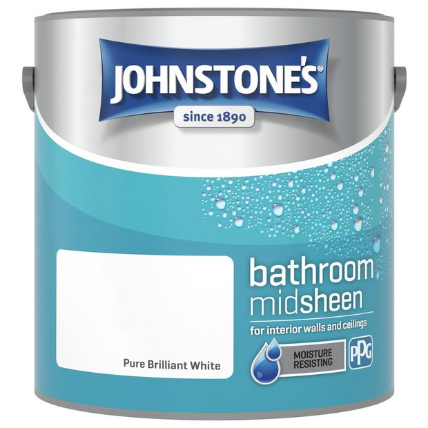 Buy johnstone 39 s brilliant white kitchen bathroom emulsion 2 5l at your online - Johnstones exterior masonry paint set ...