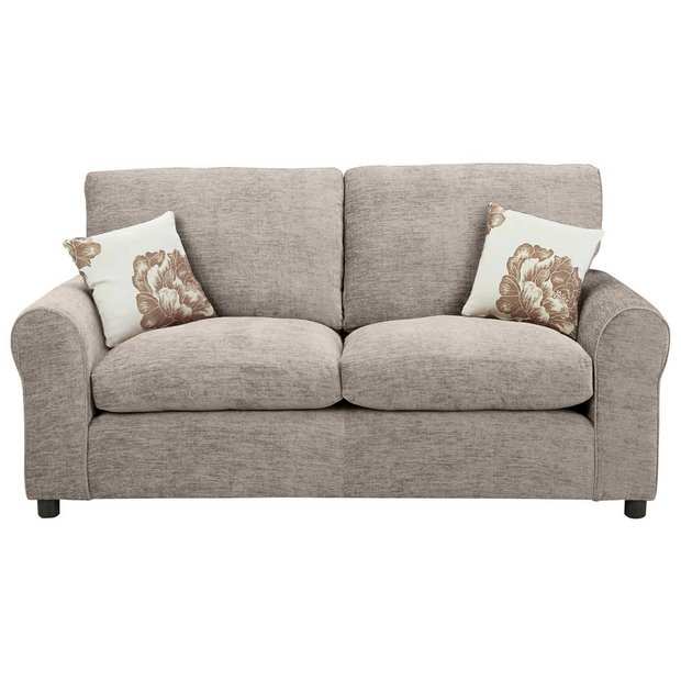 Buy home tessa 2 seater fabric sofa bed mink at for Sofa bed 2 seater uk
