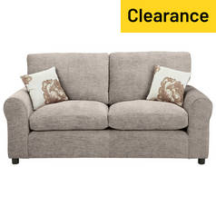 Argos Home Tessa 2 Seater Fabric Sofa Bed - Mink