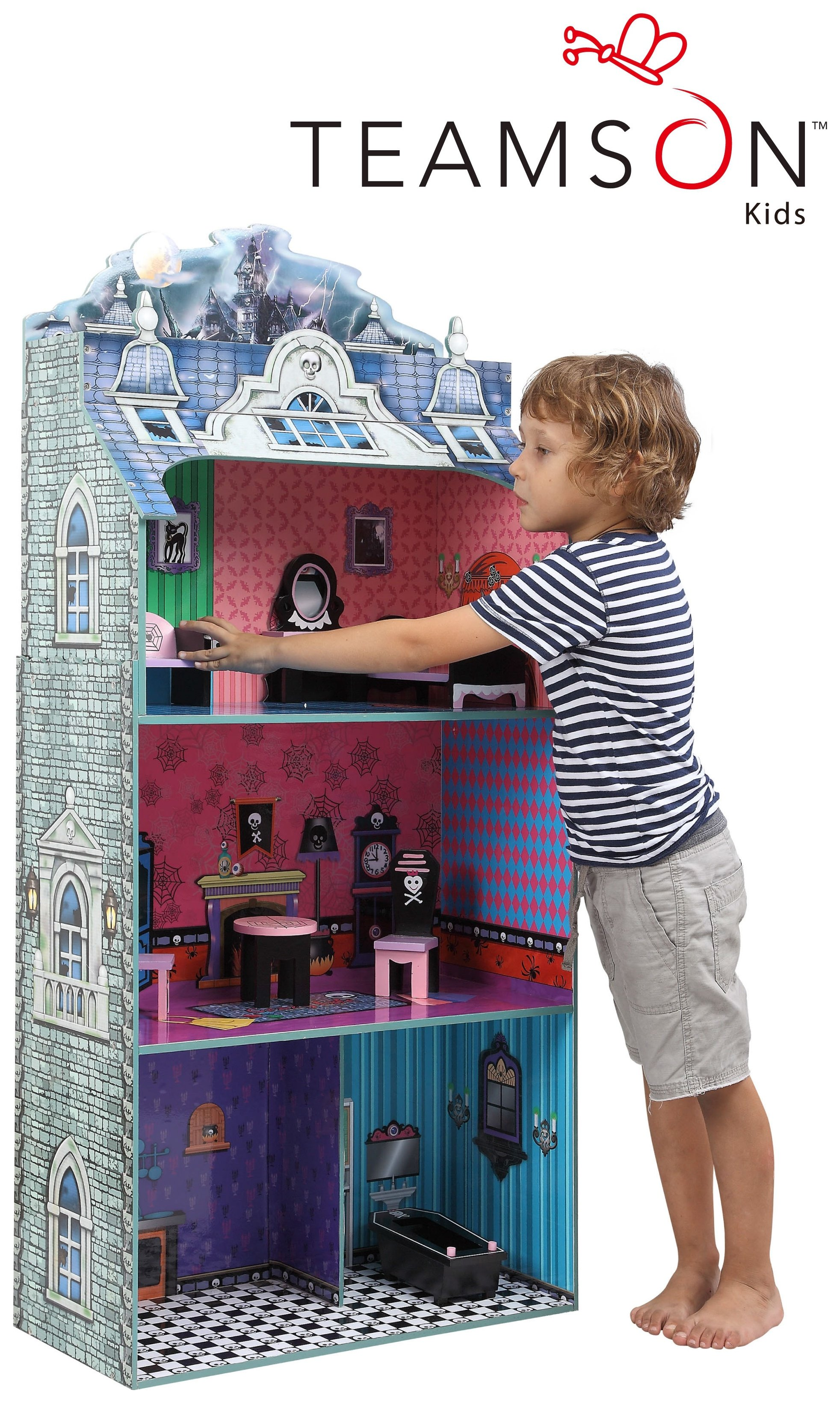 Teamson Kids Monster Mansion Dolls House.