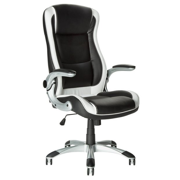 Buy home dexter height adjustable office chair black white at your online shop Argos home office furniture uk