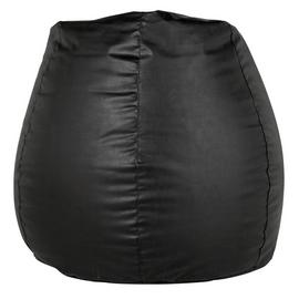HOME New Pear Extra Large Leather Effect Beanbag
