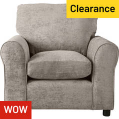 Argos Home Tessa Fabric Chair - Mink