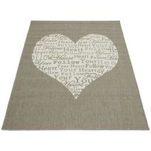 Follow Your Heart Rug - 160x230cm - Taupe