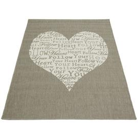 Follow Your Heart Rug - 160x230cm - Taupe.