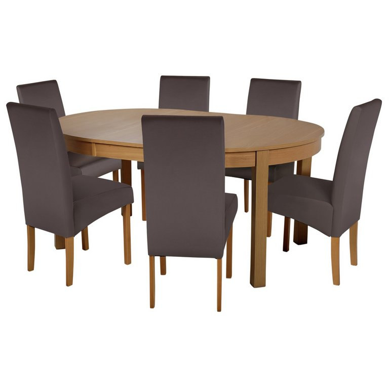 Buy Collection Massey Dining Table amp 6 Chairs Wood Effect  : 4245995RSETMain768ampw620amph620 from www.argos.co.uk size 620 x 620 jpeg 24kB