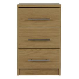 Argos Home Normandy 3 Drawer Bedside Table