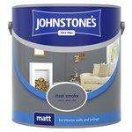 more details on Johnstone's Matt Emulsion Paint 2.5L - Steel Smoke.