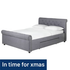 Argos Home Newbury 2 Drawer Kingsize Bed Frame - Grey