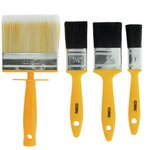 more details on Coral Essentials Paint Brushes with Block - 4 Piece Set.