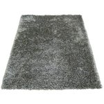 more details on Ribbon Shaggy Rug - 80x150cm - Silver.