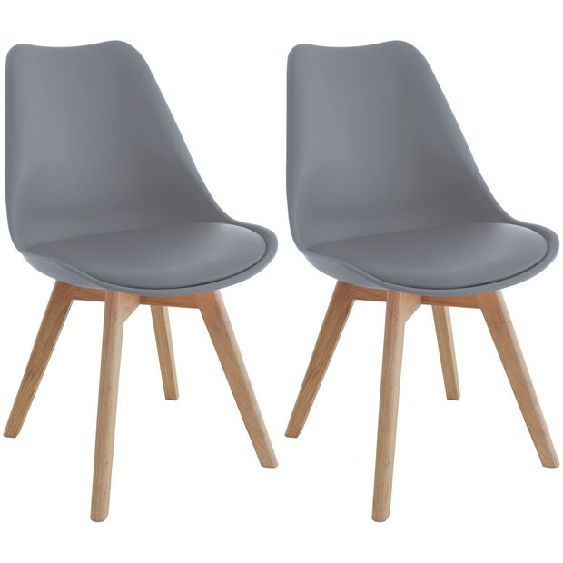 Buy Habitat Jerry Pair Of Dining Chairs Grey Dining Chairs Argos