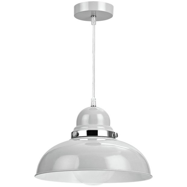 Buy Vermont Light Grey Chrome Pendant Light at Argos.co.uk - Your Online Shop for Ceiling and ...