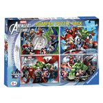 more details on Marvel Avengers Assemble 4 x 100 Piece Bumper Puzzles Pack.