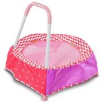 more details on Chad Valley Indoor Kid's Toddler Trampoline - Pink.