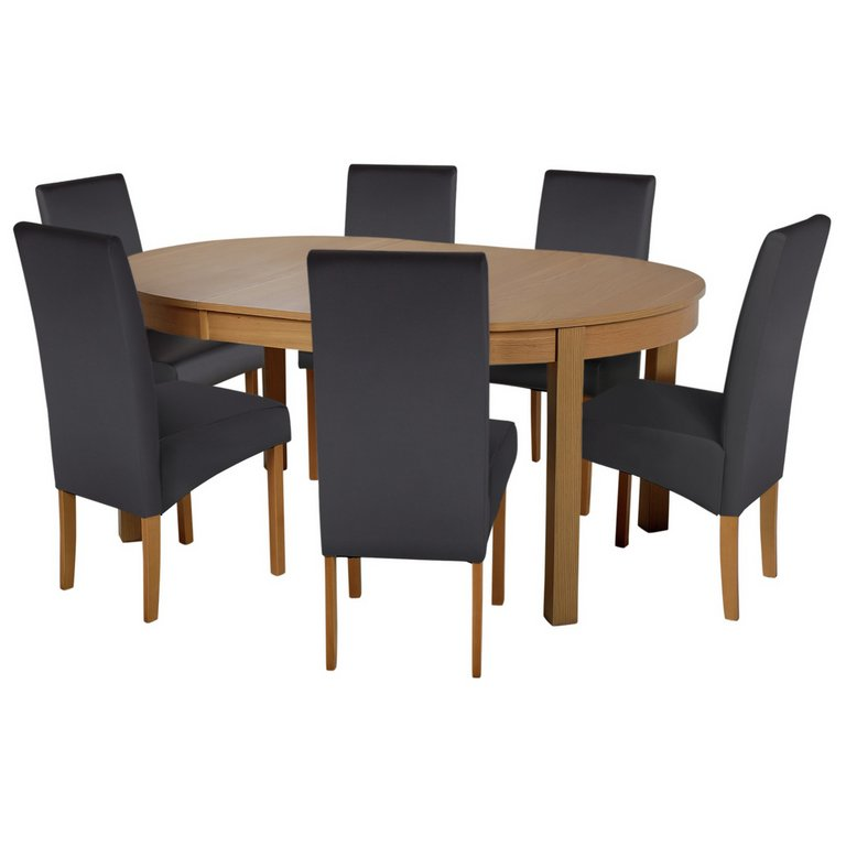 Buy Collection Massey Dining Table amp 6 Chairs Wood Effect  : 4257392RSETMain768ampw620amph620 from www.argos.co.uk size 620 x 620 jpeg 24kB