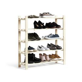 Argos Home 5 Shelf Shoe Storage Rack - Solid Unfinished Pine