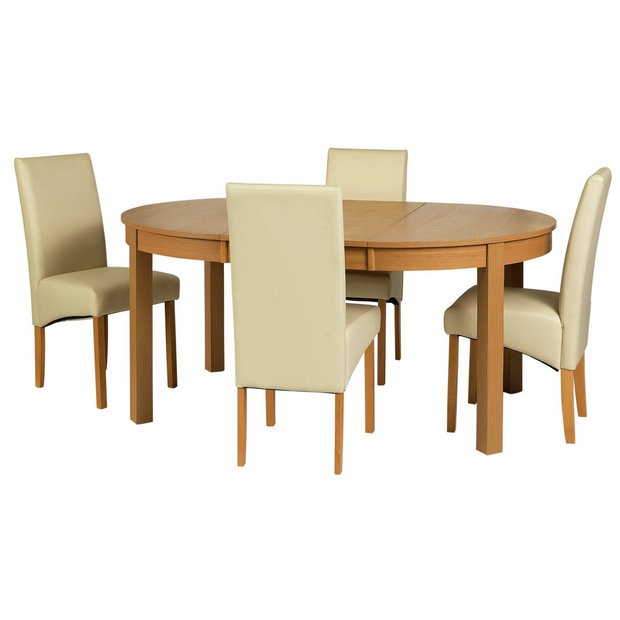Buy Collection Massey Dining Table 4 Chairs Wood Effect