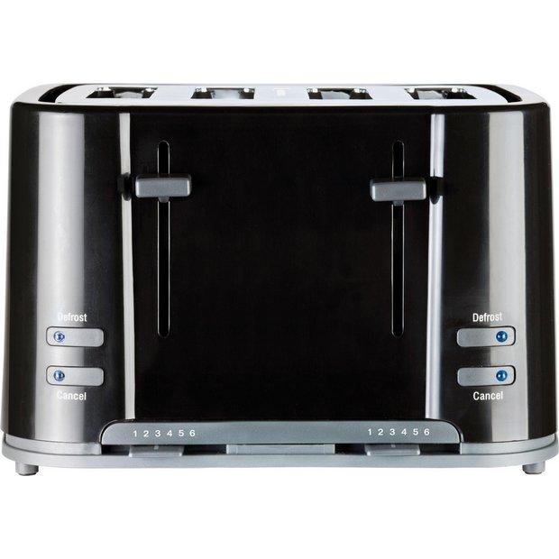 Buy prestige eco 4 slice toaster black at for Kitchen set argos