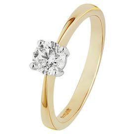Revere 9ct Yellow Gold 0.50ct tw Diamond Solitaire Ring