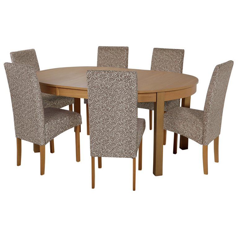 Buy Collection Massey Dining Table amp6 Chairs Wood Effect  : 4267722RSETMain768ampw620amph620 from www.argos.co.uk size 620 x 620 jpeg 50kB