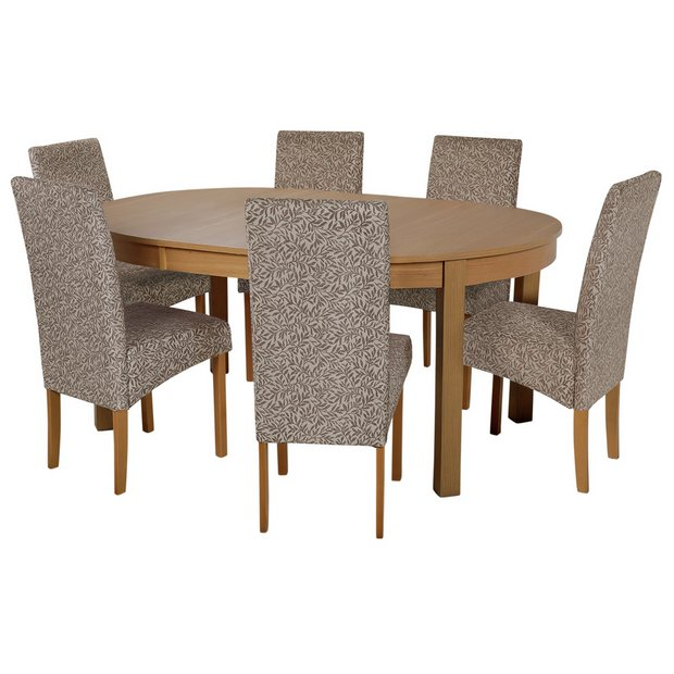 Buy Collection Massey Dining Table 6 Chairs Wood Effect