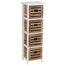 Premier Housewares Portsmouth 4 Drawer Storage Chest.
