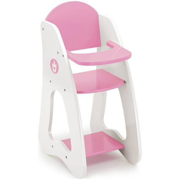 Buy Bayer Dolls Highchair Pink And White At