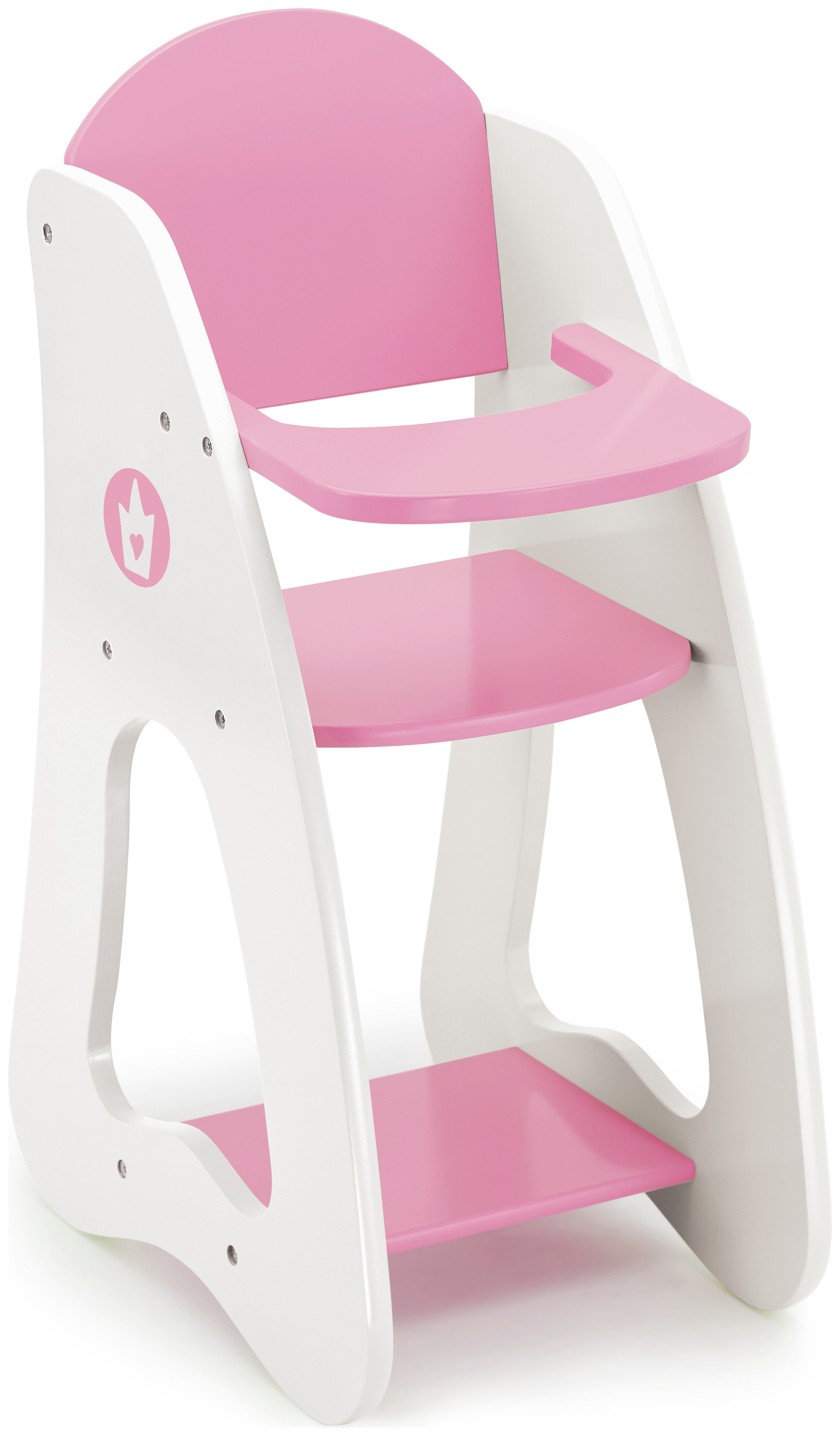 Bayer Dollu0027s Highchair   Pink And White