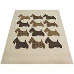 Scottie Dog Rug - 120x170cm - Natural