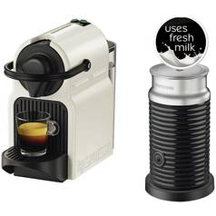 Nespresso Inissia & Aeroccino 3 Coffee Machine - White