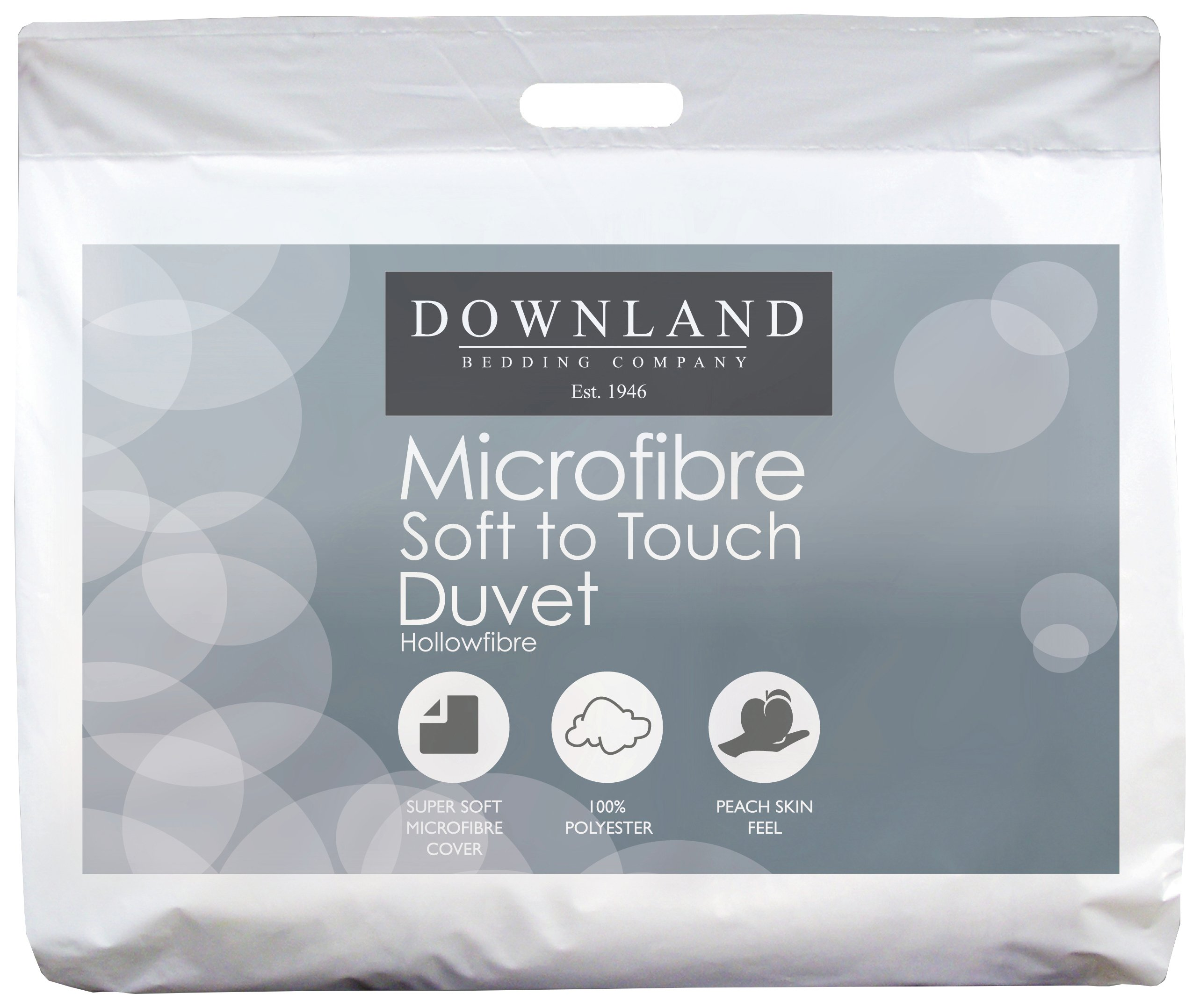 Argos Downland Microfibre Anti-allergy 1 Tog Duvet