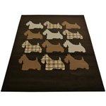 Scottie Dog Rug - 120x170cm - Chocolate