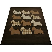 Scottie Dog Rug - 120x170cm - Chocolate