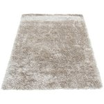more details on Ribbon Shaggy Rug - 60x110cm - Champagne.