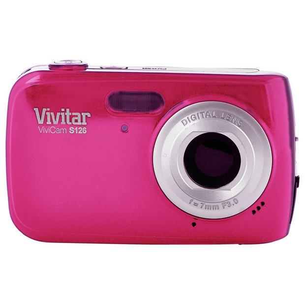 Buy Vivitar S126 16MP 4x Zoom Compact Digital Camera - Pink at ...