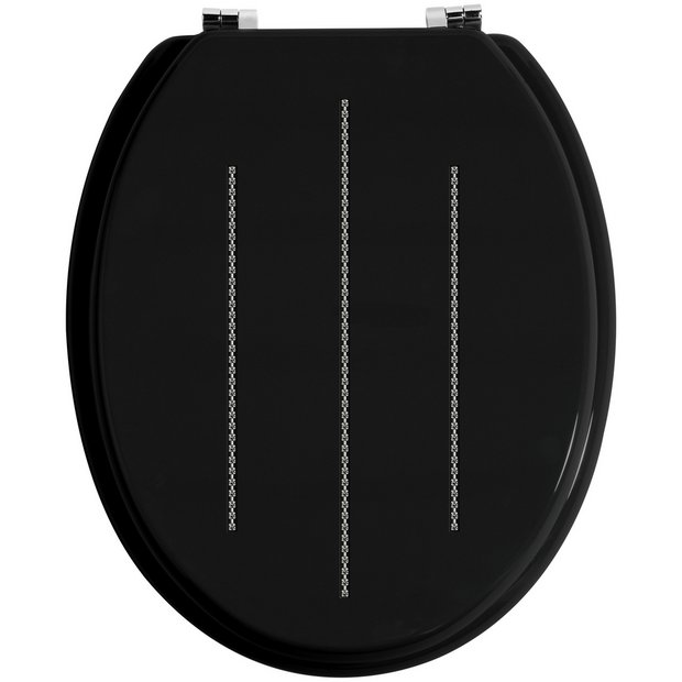 buy premier housewares black diamante toilet seat at argos. Black Bedroom Furniture Sets. Home Design Ideas
