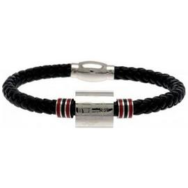 Stainless Steel and Leather Sunderland Bracelet