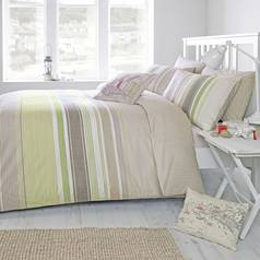 Dreams N Drapes Falmouth Green Duvet Cover - Superking
