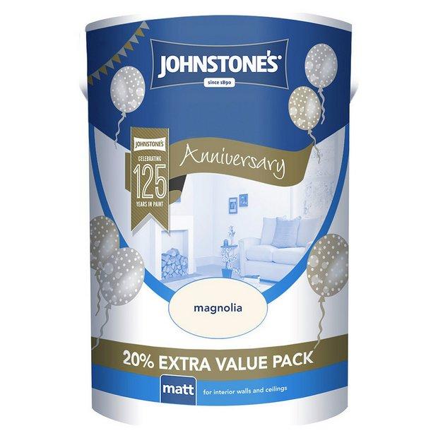 Buy johnstone 39 s matt paint 6l magnolia at your online shop for paint wallpaper - Johnstones exterior paint set ...