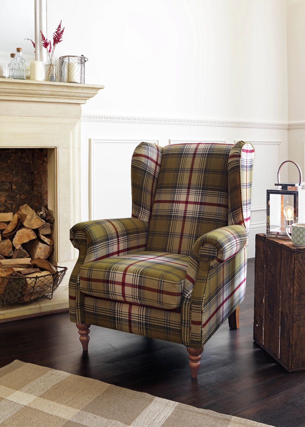 Buy Heart Of House Argyll Fabric Chair   Autumn Tartan At Argos.co.uk    Your Online Shop For Armchairs And Chairs, Living Room Furniture, Home And  Garden.