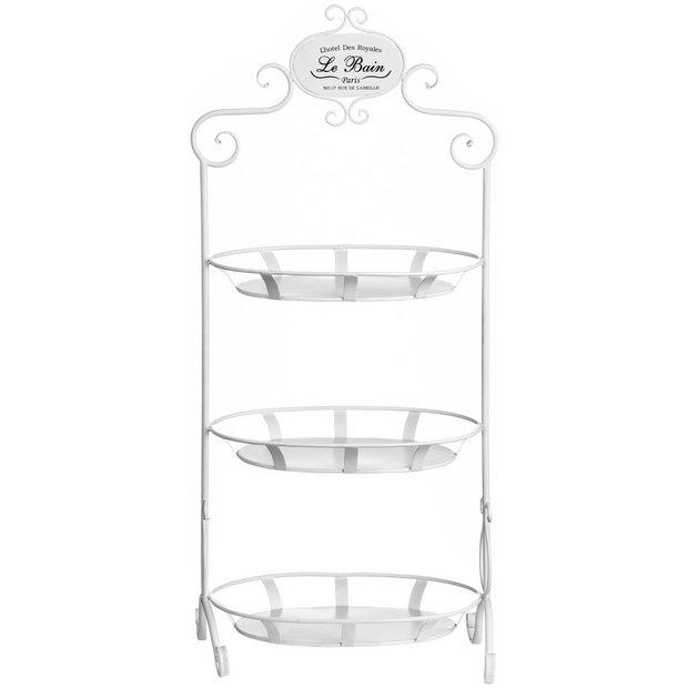 Buy premier housewares le bain 3 tier cream stand at argos for Bathroom accessories argos