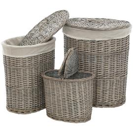Premier Housewares 123 Litre Set of 3 Willow Laundry Baskets