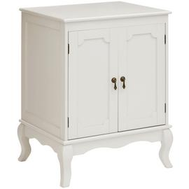 Premier Housewares Marcella Ivory Double Door Cabinet.